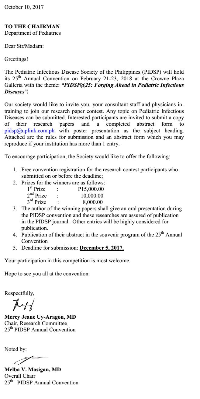 Research Paper Contest 2018