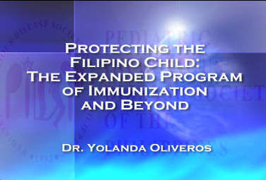 Protecting the Filipino Child: The Expanded Program of Immunization and Beyond